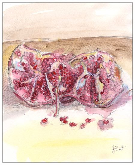 Pomegranate-color